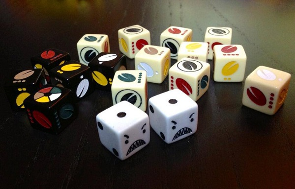 Angry Dice plus custom VIvaJava dice